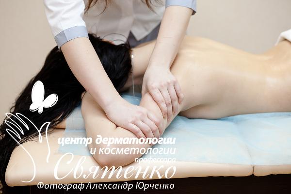Лимфодренажный массаж в Днепре на фотографии массажист Светлана Кононова.