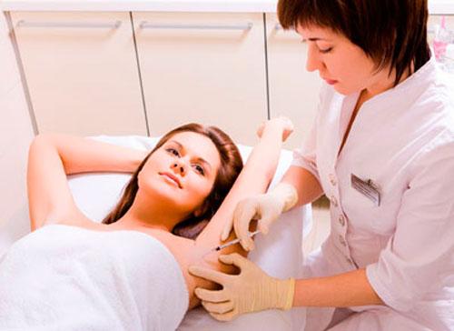 Процедура лечения гипергидроза